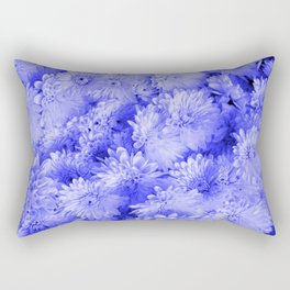 Periwinkle Floral Garden Rectangular Pillow