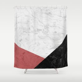 MARBLE INFERIOR Shower Curtain