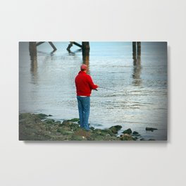 Fishing By The River Metal Print