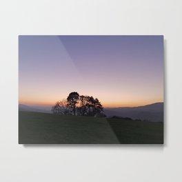 Sunset over Sleights Metal Print