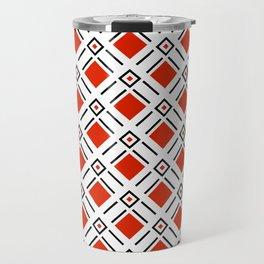 Red Diamond Golf Pattern Travel Mug