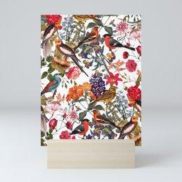 Floral and Birds XXXIII Mini Art Print