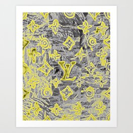 LV NEONIZED Art Print