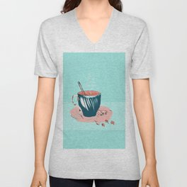 coffee with love Unisex V-Neck