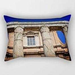 The Temple of Antonius & Faustina Rectangular Pillow