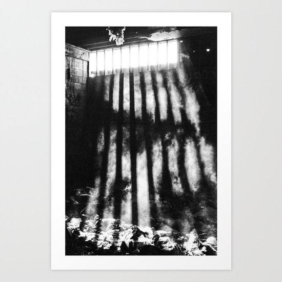 Light Beams Art Print