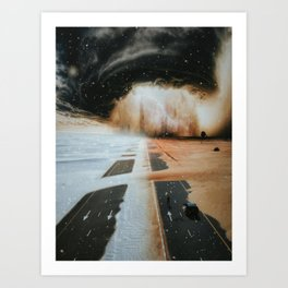 Extreme weather in Dubai by GEN Z Art Print