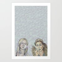 sex and the city Art Prints featuring Smokin' Ladies of Sex and The City  by Butt'n Booty
