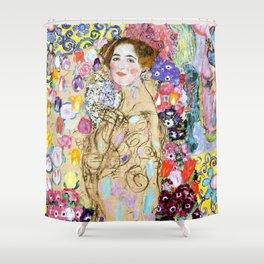 """Gustav Klimt """"Portrait of Maria Munk (unfinished)"""" Shower Curtain"""