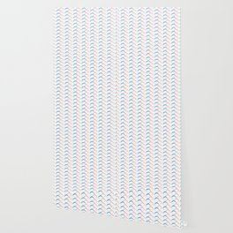 Pastel Geometric Wave Shapes Wallpaper