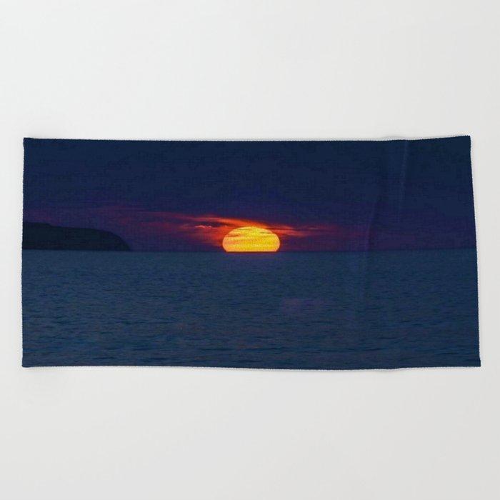 Moonlight on the Ocean Beach Towel