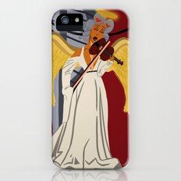 Angel on Carma's Shoulder iPhone Case