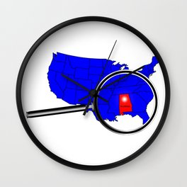 State of Alabama Wall Clock