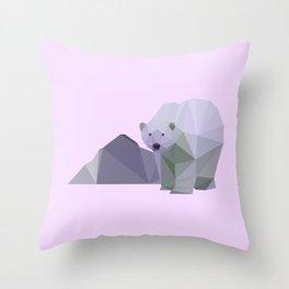 polar pastel Throw Pillow
