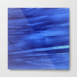 blue lines abstract I Metal Print