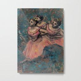 Three Dancers in Red Costume Metal Print