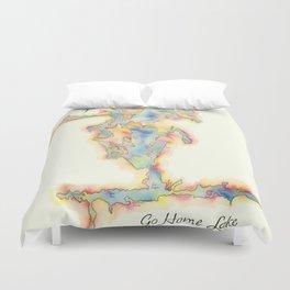 Go Home Lake - Coloured Map Duvet Cover
