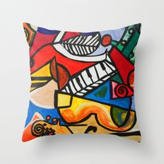 Endless Music Throw Pillow