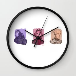 3 Space Rangers Wall Clock