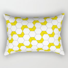 Geometric Pattern #47 (yellow hexagon) Rectangular Pillow