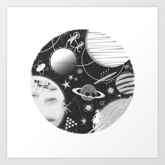 SPACE & SPORT Art Print