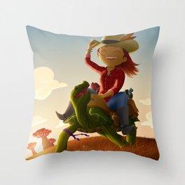 Nikki & Don Throw Pillow