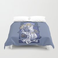 nouveau Duvet Covers featuring Galadriel Nouveau by Karen Hallion Illustrations