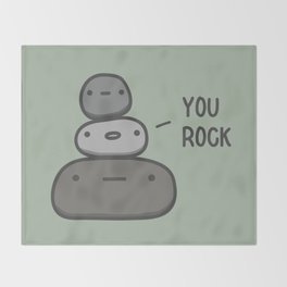 You Rock Throw Blanket