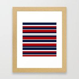 Flag Stripes Framed Art Print