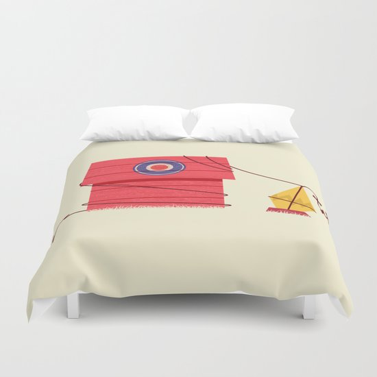 The Red Baron or Snoopy's Doghouse Duvet Cover