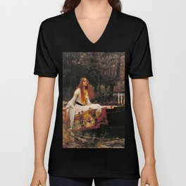 The Lady of Shalott Unisex V-Neck