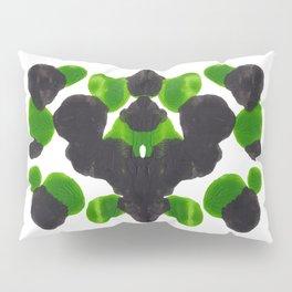 Lime Green & Black Ink Blot Pattern Pillow Sham