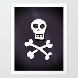 Pirate Skull and crossbones flag Art Print