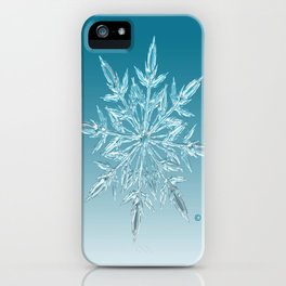 Blue Green Ice Crystal iPhone Case