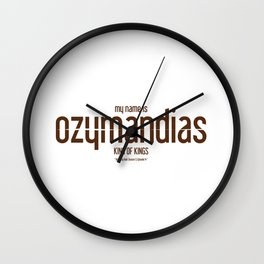 Ozymandias · Breaking Bad Wall Clock