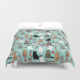 Catsmas cat christmas gifts pet friendly pet portraits holiday cat lady must haves Duvet Cover