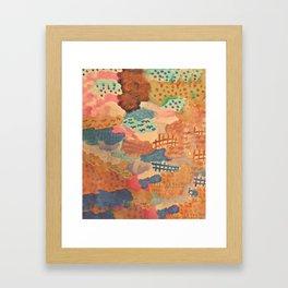 Amber clouds Framed Art Print