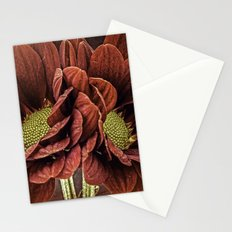 Red Chrysanthemum Duo Stationery Cards