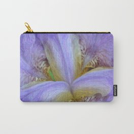 Purple Iris in Pencil Sketch 0174 Carry-All Pouch