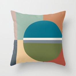 Modern Color Sampler Abstract Art  Throw Pillow