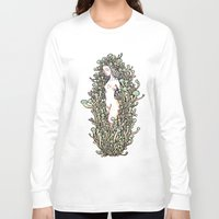 mushrooms Long Sleeve T-shirts featuring Mushrooms by KuaKua's Nest