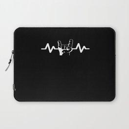 Heartbeat Rock Star Rock And Roll Laptop Sleeve