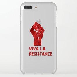 Viva La Resistance Clear iPhone Case