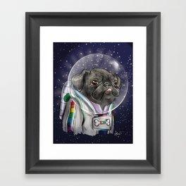 Cadet Sparkles Space Pug Framed Art Print