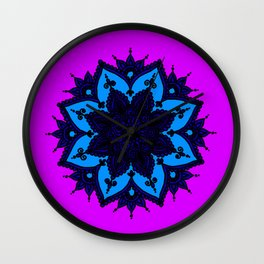 Kids Mandala Purple Wall Clock