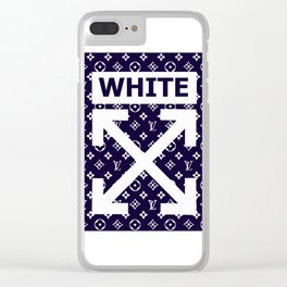 off white lv Clear iPhone Case