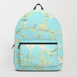 Vincent Van Gogh : almond blossoms Aqua Blue Backpack