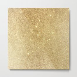Elegant stylish faux gold glitter Metal Print