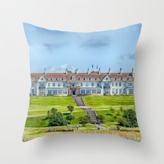 The Turnberry Hotel Throw Pillow