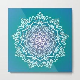 Baesic Turquoise Tranquil Mandala Metal Print